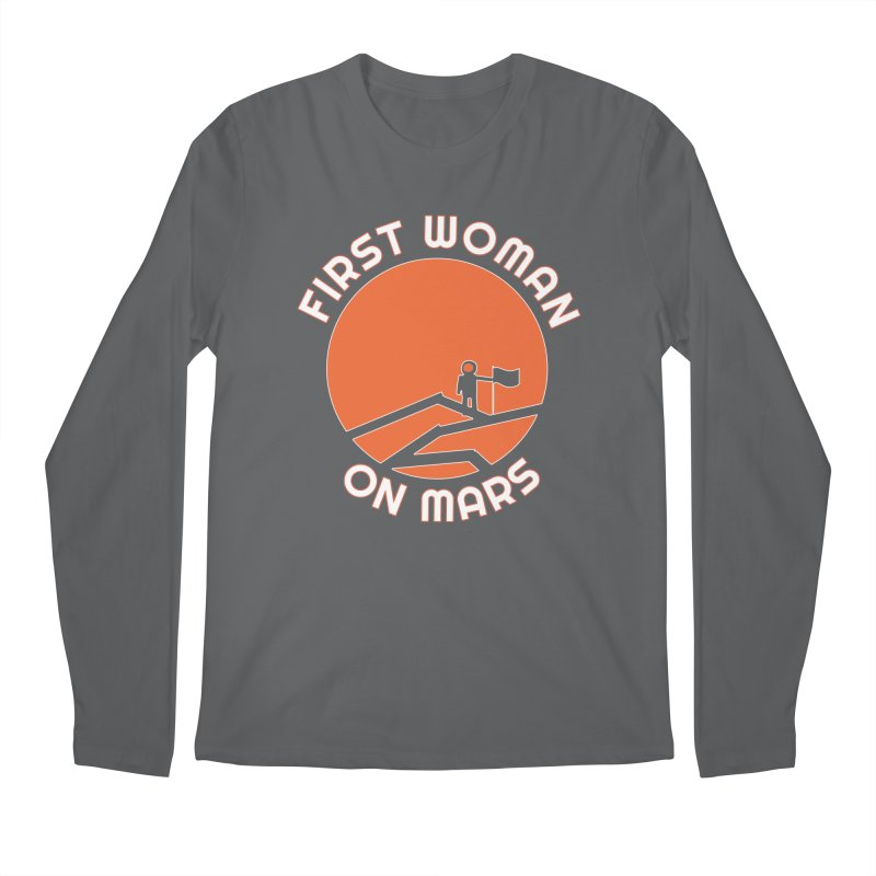 First Woman on Mars Men's Longsleeve T-Shirt by Spaceboy Books LLC's Artist Shop
