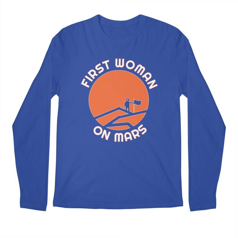First Woman on Mars Men's Regular Longsleeve T-Shirt by Spaceboy Books LLC's Artist Shop