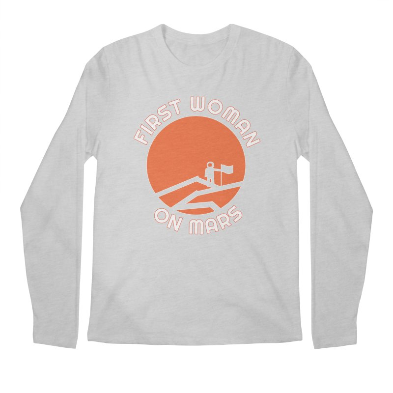 First Woman on Mars Men's Regular Longsleeve T-Shirt by Spaceboy Books LLC's Artist Shop