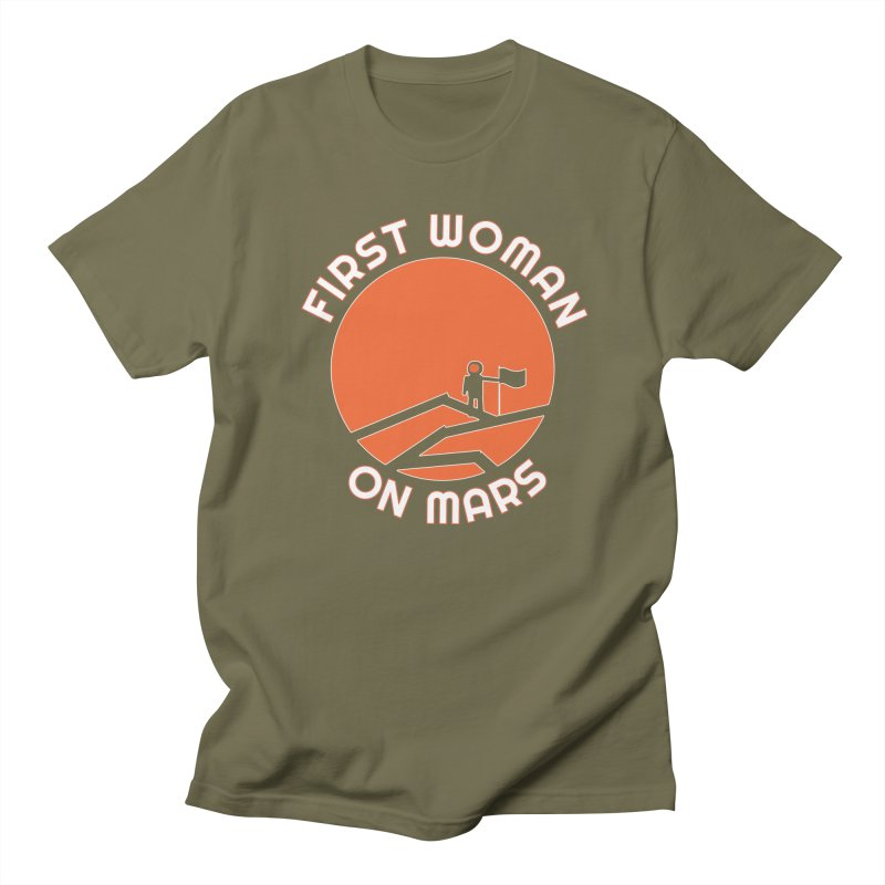 First Woman on Mars Women's Regular Unisex T-Shirt by Spaceboy Books LLC's Artist Shop