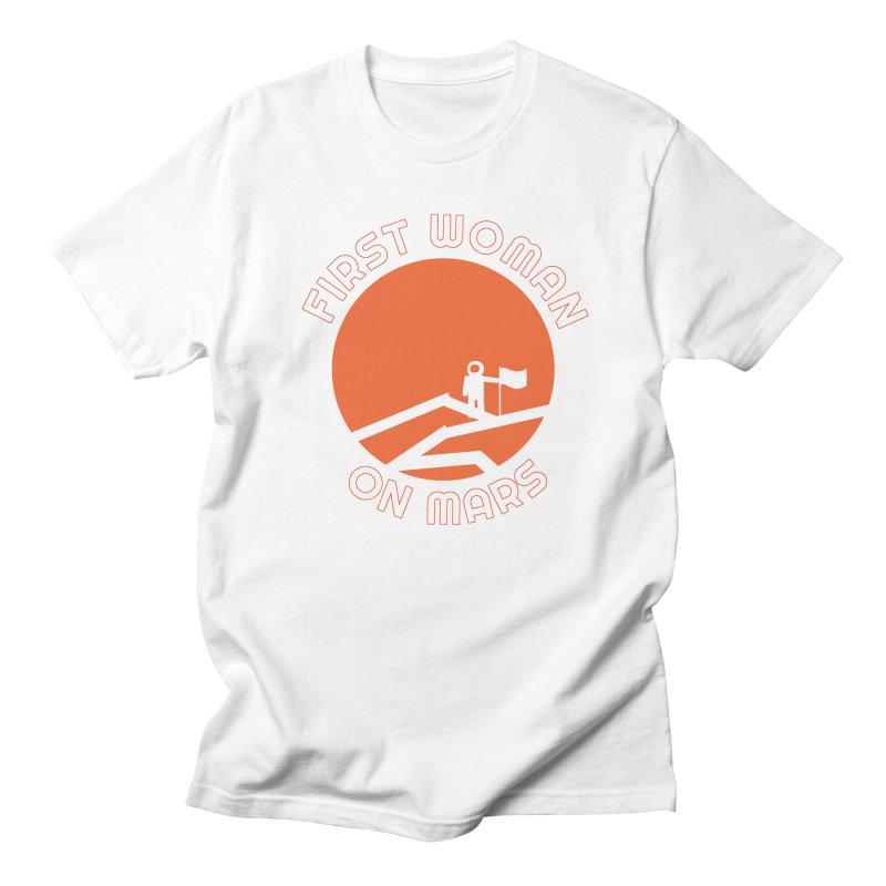 First Woman on Mars Men's Regular T-Shirt by Spaceboy Books LLC's Artist Shop