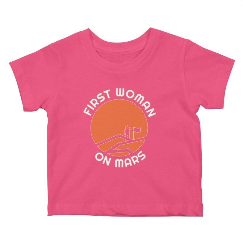 First Woman on Mars Kids Baby T-Shirt by Spaceboy Books LLC's Artist Shop