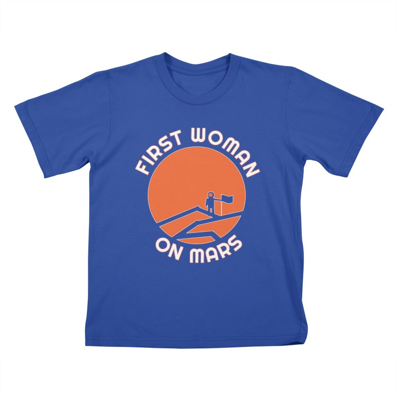 First Woman on Mars Kids T-Shirt by Spaceboy Books LLC's Artist Shop