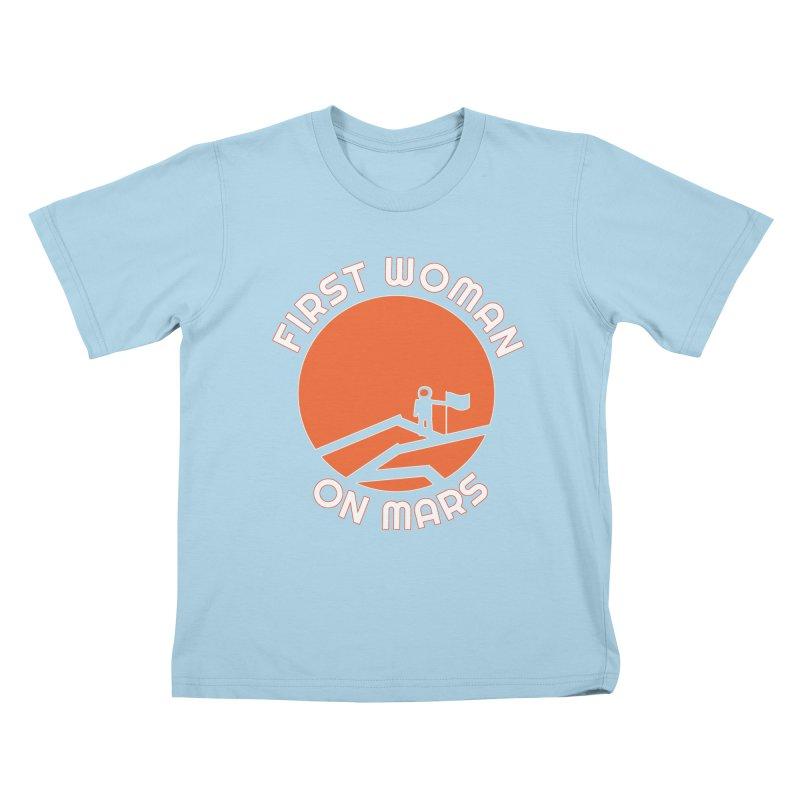 First Woman on Mars Kids T-Shirt by Spaceboy Books LLC's Artist Shop