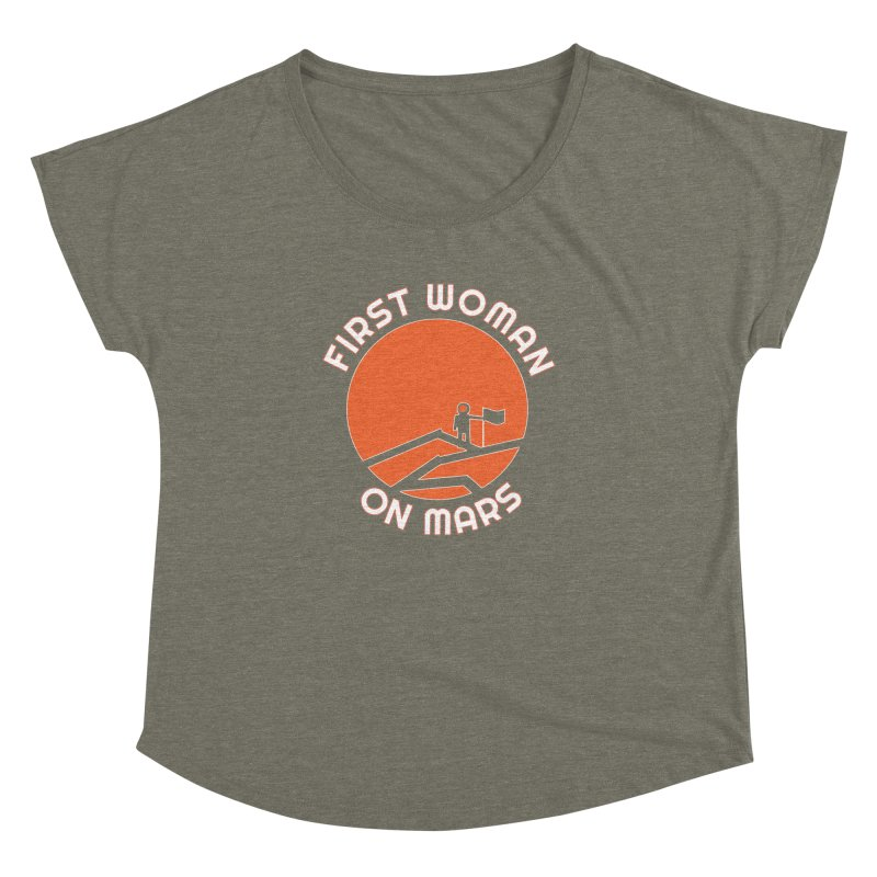First Woman on Mars Women's Dolman Scoop Neck by Spaceboy Books LLC's Artist Shop
