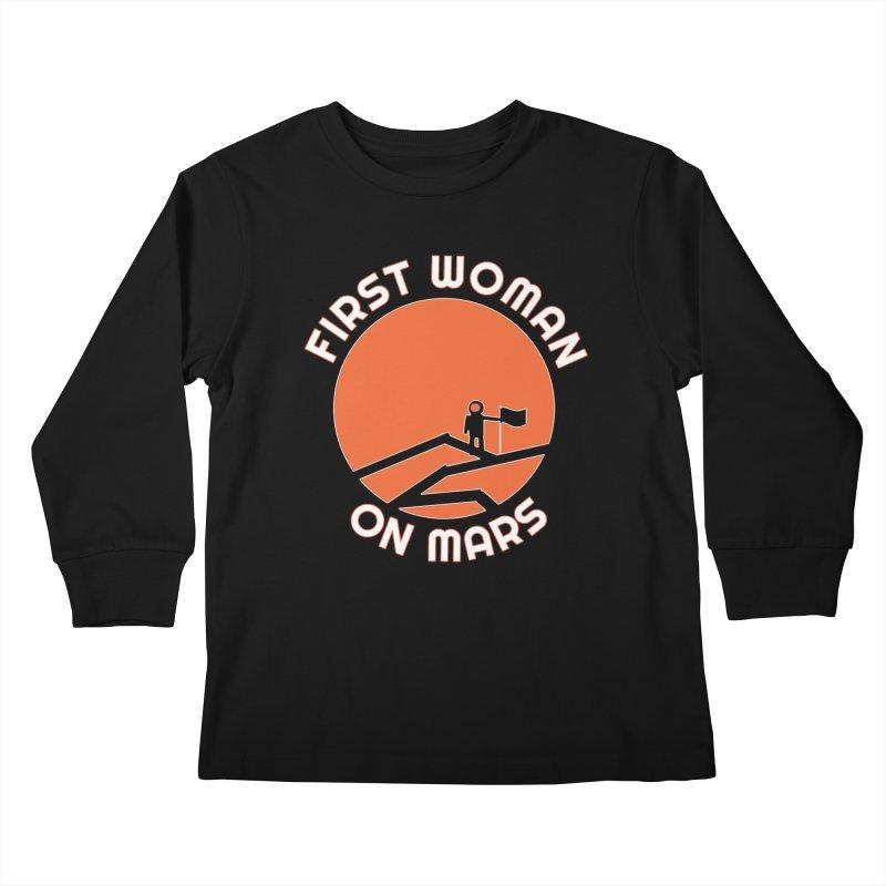 First Woman on Mars Kids Longsleeve T-Shirt by Spaceboy Books LLC's Artist Shop