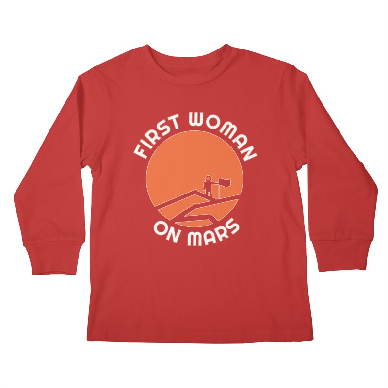 First Woman on Mars Kids Longsleeve T-Shirt by Spaceboy Books LLC's Artist Shop