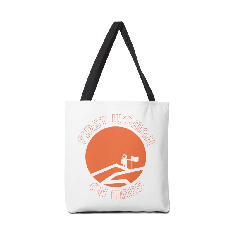 First Woman on Mars Accessories Tote Bag Bag by Spaceboy Books LLC's Artist Shop