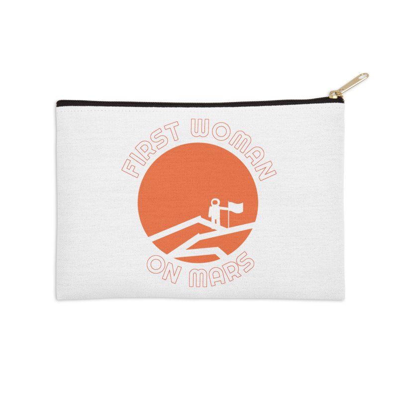 First Woman on Mars Accessories Zip Pouch by Spaceboy Books LLC's Artist Shop