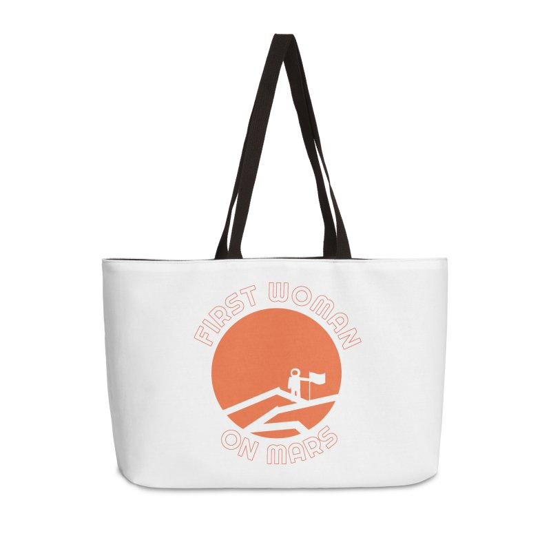 First Woman on Mars Accessories Weekender Bag Bag by Spaceboy Books LLC's Artist Shop