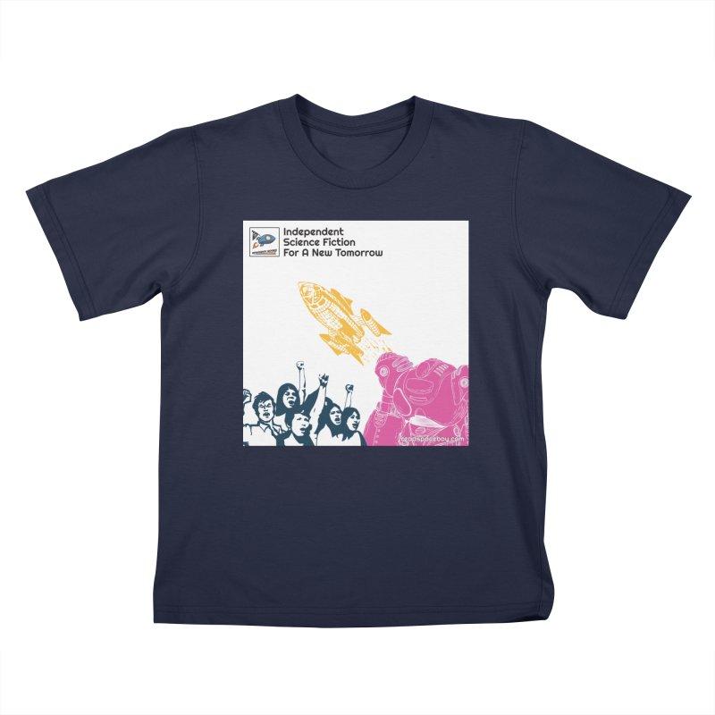 Spaceboy Indie Album Cover Kids T-Shirt by Spaceboy Books LLC's Artist Shop