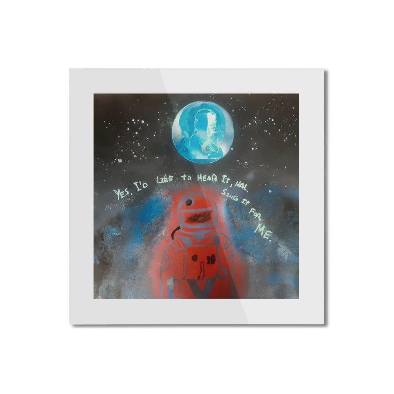 Space Art by Shaunn Home Mounted Aluminum Print by Spaceboy Books LLC's Artist Shop