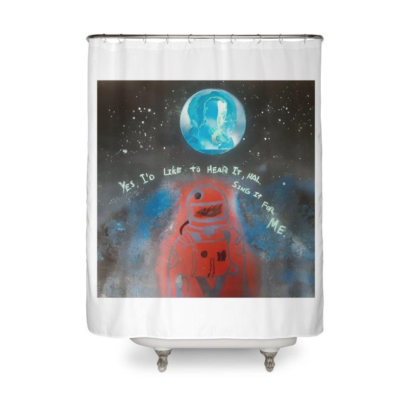 Space Art by Shaunn Home Shower Curtain by Spaceboy Books LLC's Artist Shop