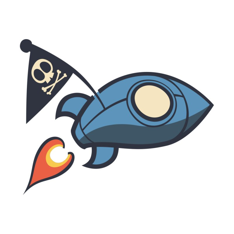 Spaceboy Books Rocket by Spaceboy Books LLC's Artist Shop