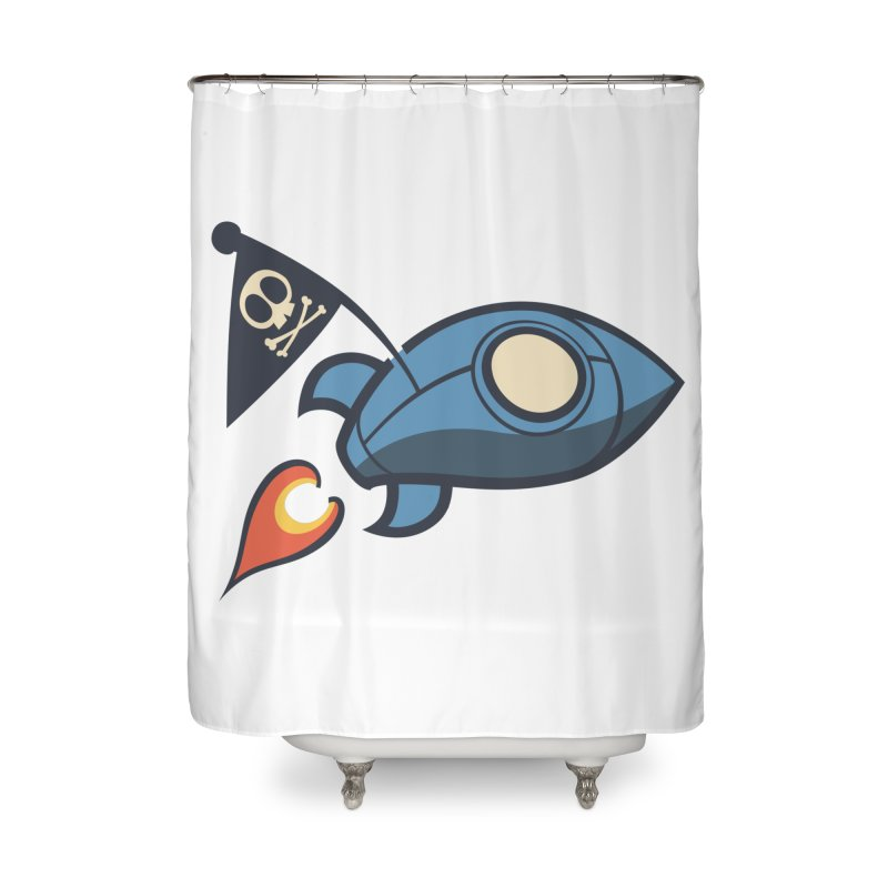 Spaceboy Books Rocket Home Shower Curtain by Spaceboy Books LLC's Artist Shop