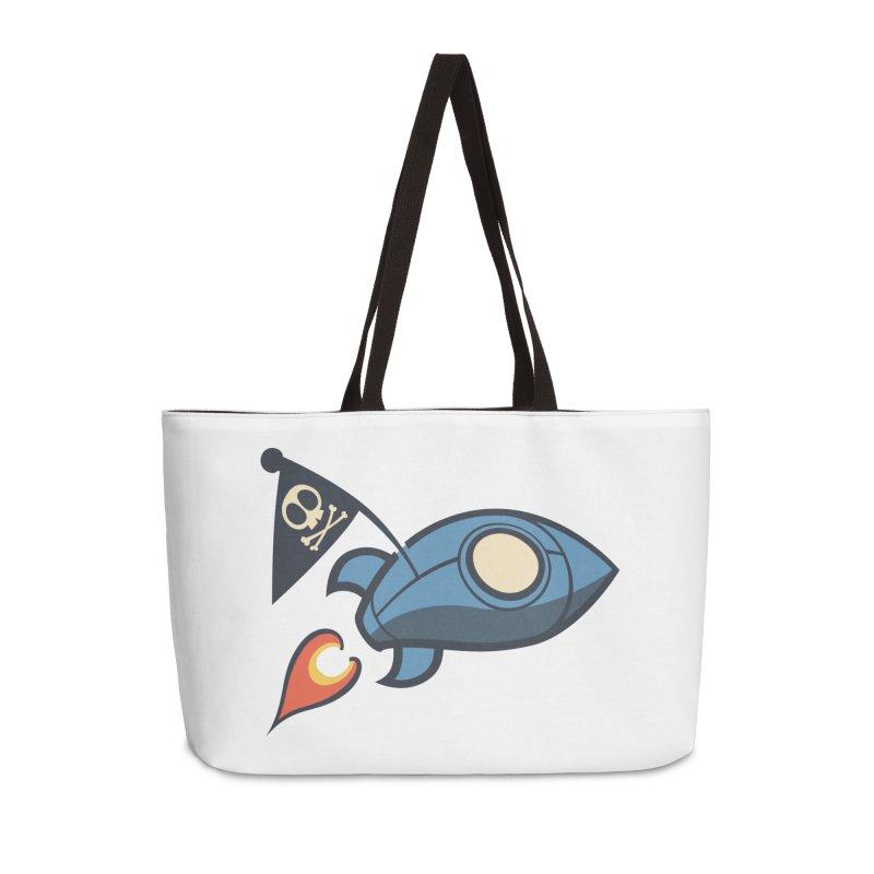 Spaceboy Books Rocket Accessories Weekender Bag Bag by Spaceboy Books LLC's Artist Shop