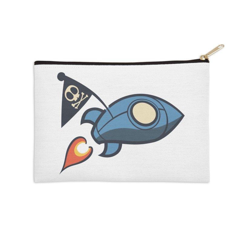 Spaceboy Books Rocket Accessories Zip Pouch by Spaceboy Books LLC's Artist Shop