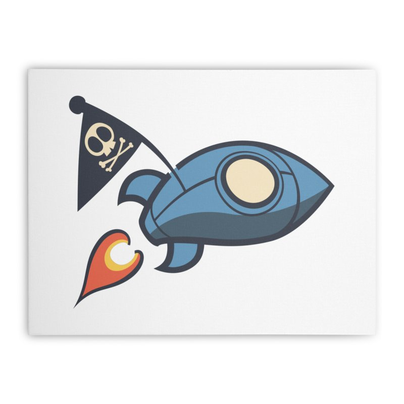 Spaceboy Books Rocket Home Stretched Canvas by Spaceboy Books LLC's Artist Shop