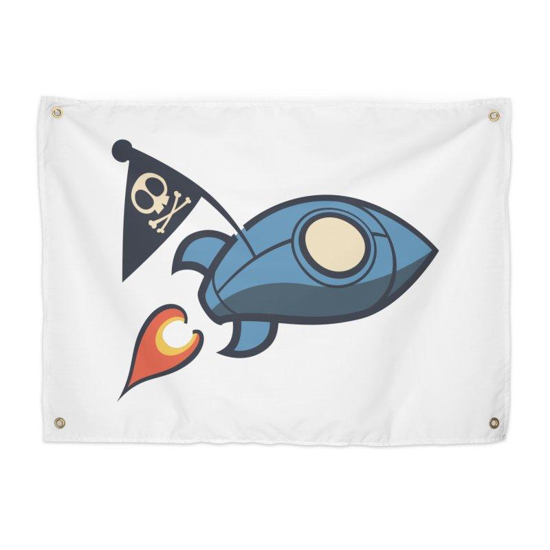 Spaceboy Books Rocket Home Tapestry by Spaceboy Books LLC's Artist Shop