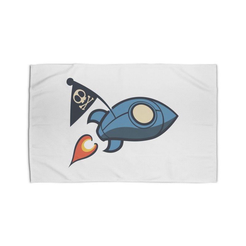 Spaceboy Books Rocket Home Rug by Spaceboy Books LLC's Artist Shop