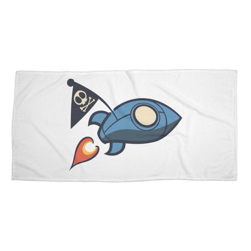 Spaceboy Books Rocket Accessories Beach Towel by Spaceboy Books LLC's Artist Shop