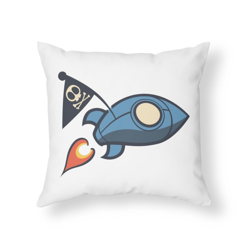 Spaceboy Books Rocket Home Throw Pillow by Spaceboy Books LLC's Artist Shop