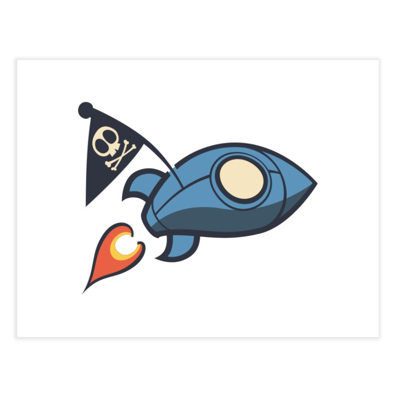 Spaceboy Books Rocket Home Fine Art Print by Spaceboy Books LLC's Artist Shop
