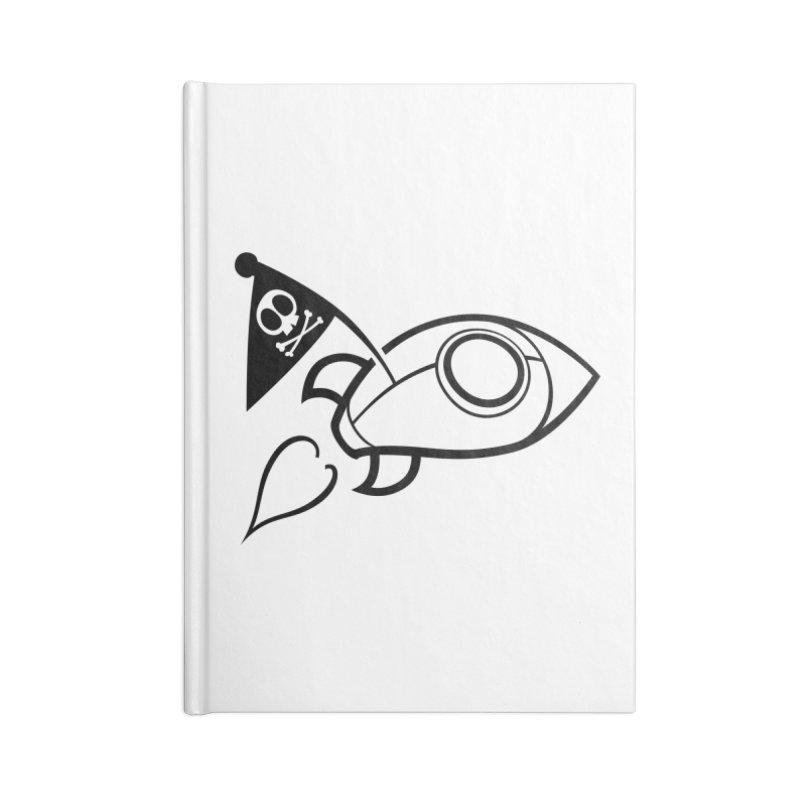 Spaceboy Books Rocket B&W Accessories Blank Journal Notebook by Spaceboy Books LLC's Artist Shop