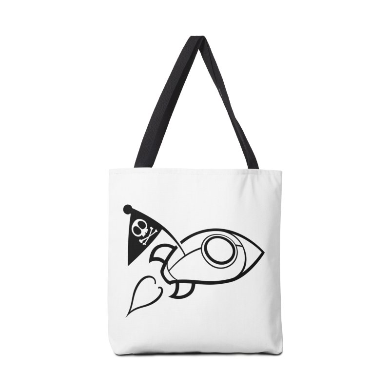 Spaceboy Books Rocket B&W Accessories Tote Bag Bag by Spaceboy Books LLC's Artist Shop