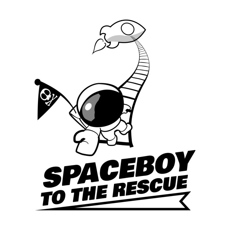 Spaceboy To The Rescue B&W by Spaceboy Books LLC's Artist Shop
