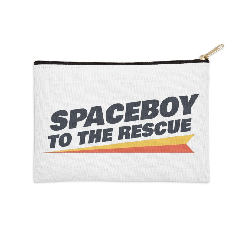 Spaceboy To The Rescue Text  Accessories Zip Pouch by Spaceboy Books LLC's Artist Shop