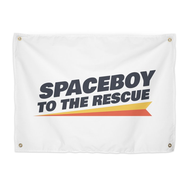 Spaceboy To The Rescue Text  Home Tapestry by Spaceboy Books LLC's Artist Shop