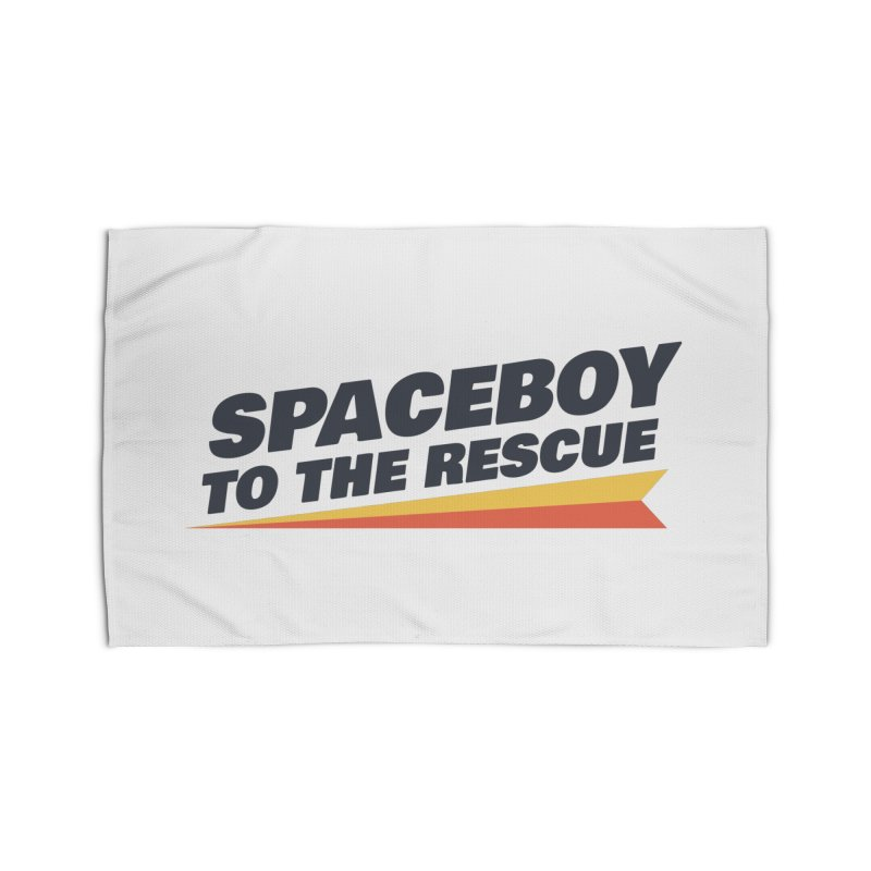 Spaceboy To The Rescue Text  Home Rug by Spaceboy Books LLC's Artist Shop
