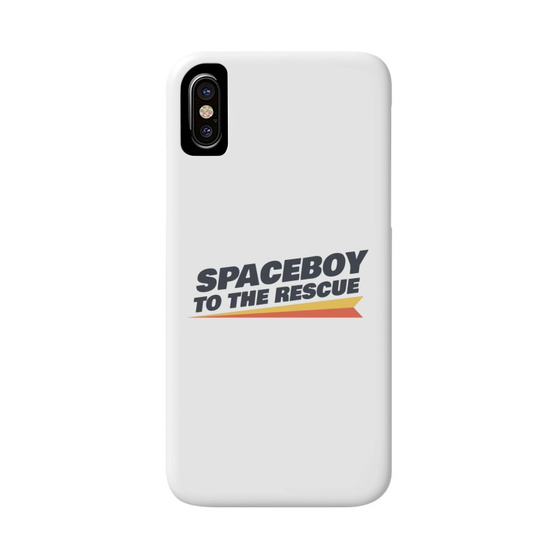 Spaceboy To The Rescue Text  Accessories Phone Case by Spaceboy Books LLC's Artist Shop