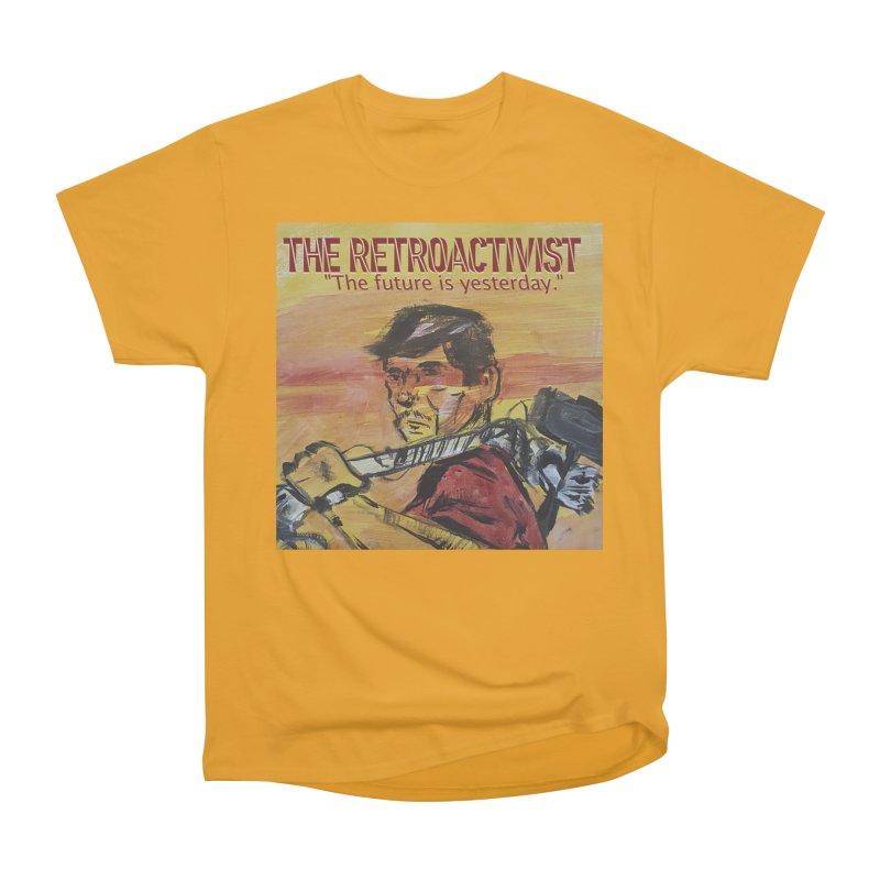The Retroactivist Cover Men's Heavyweight T-Shirt by Spaceboy Books LLC's Artist Shop