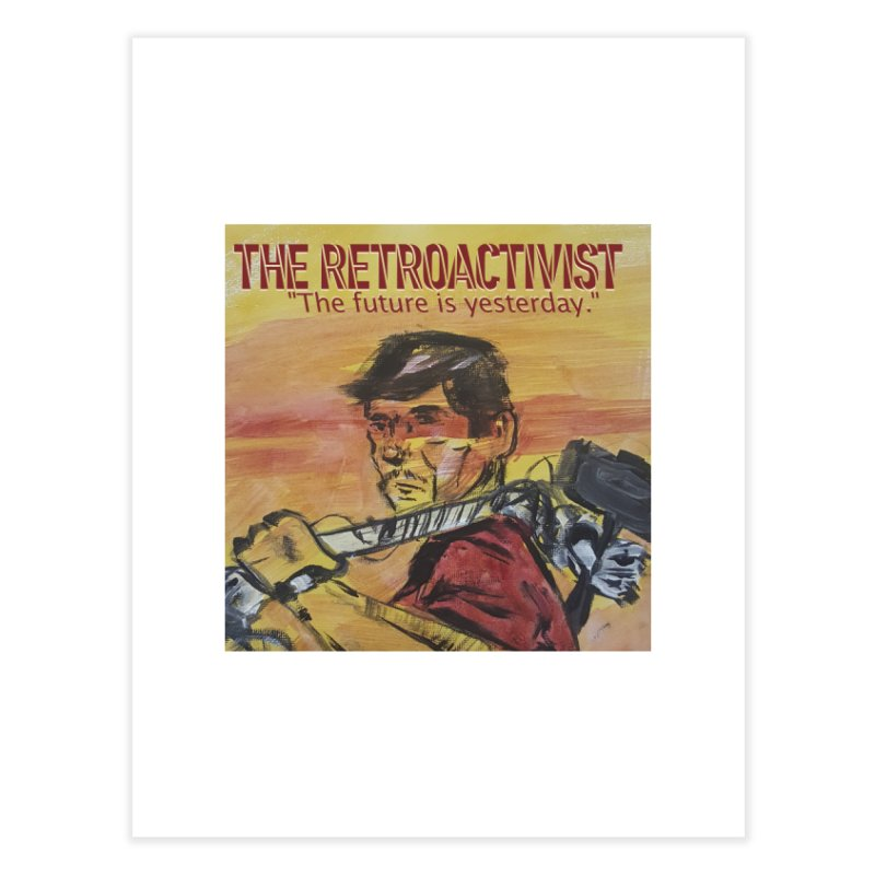 The Retroactivist Cover Home Fine Art Print by Spaceboy Books LLC's Artist Shop