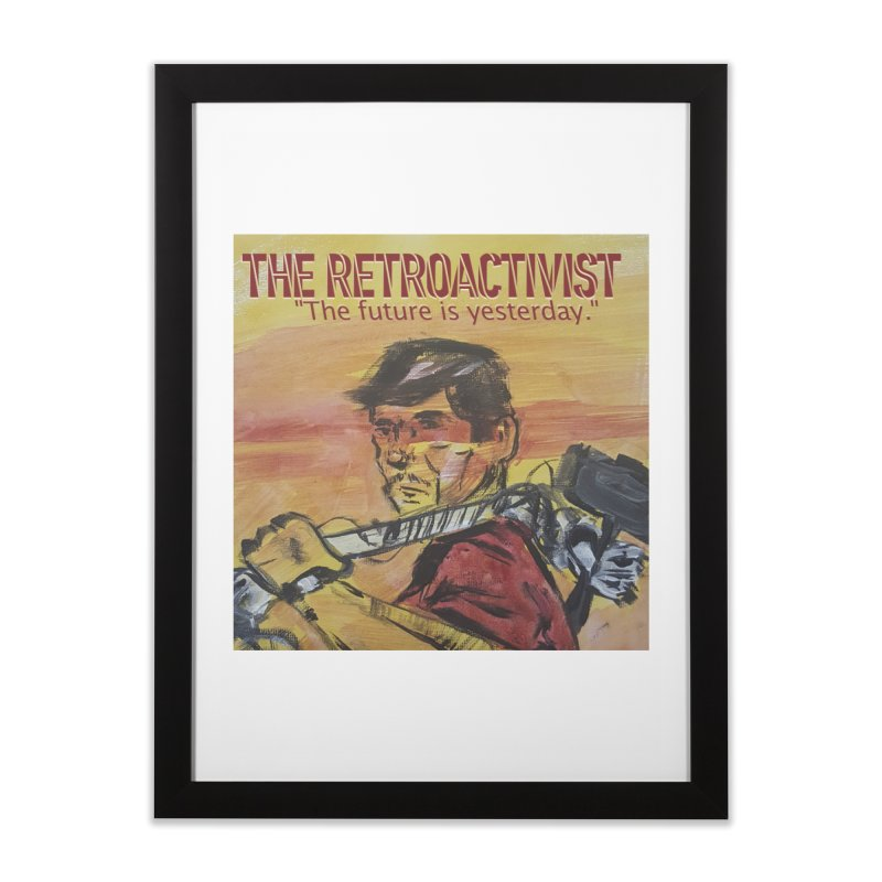 The Retroactivist Cover Home Framed Fine Art Print by Spaceboy Books LLC's Artist Shop