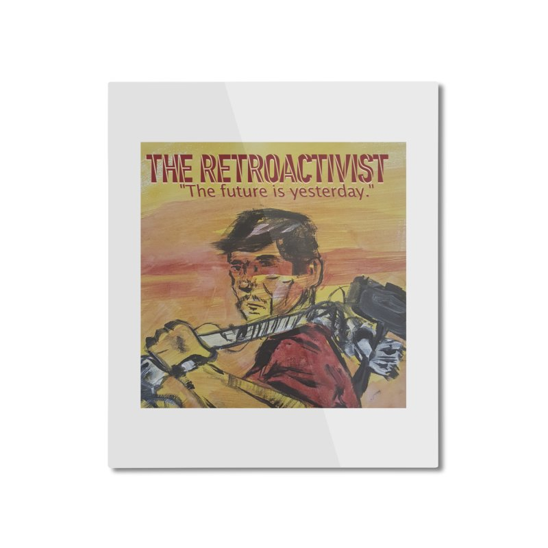 The Retroactivist Cover Home Mounted Aluminum Print by Spaceboy Books LLC's Artist Shop