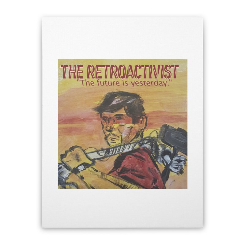 The Retroactivist Cover Home Stretched Canvas by Spaceboy Books LLC's Artist Shop