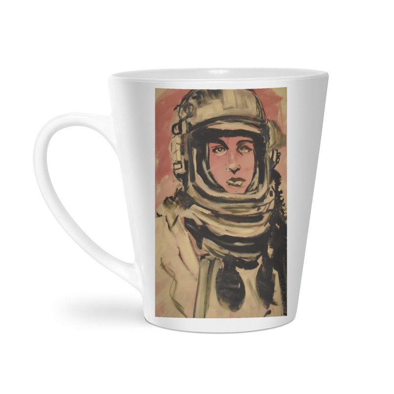 The Necronaut Cover Accessories Latte Mug by Spaceboy Books LLC's Artist Shop