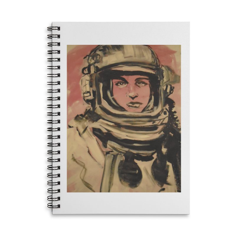 The Necronaut Cover Accessories Lined Spiral Notebook by Spaceboy Books LLC's Artist Shop