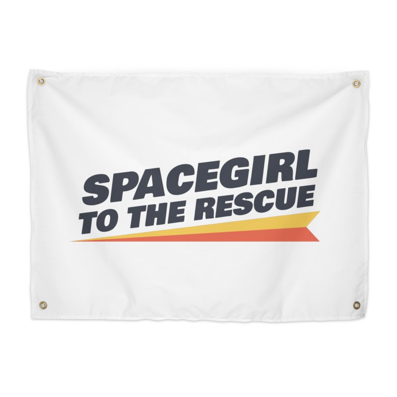 Spacegirl to the Rescue Wordmark Home Tapestry by Spaceboy Books LLC's Artist Shop