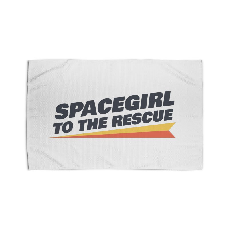 Spacegirl to the Rescue Wordmark Home Rug by Spaceboy Books LLC's Artist Shop