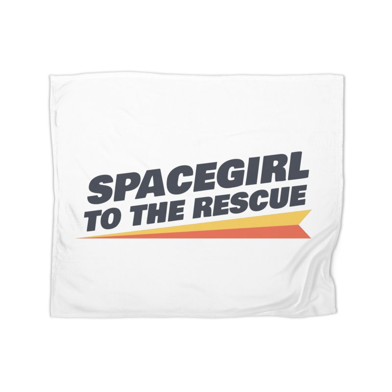 Spacegirl to the Rescue Wordmark Home Fleece Blanket Blanket by Spaceboy Books LLC's Artist Shop