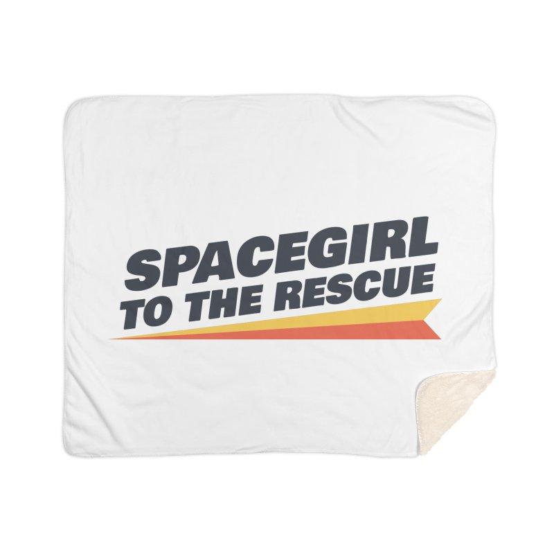 Spacegirl to the Rescue Wordmark Home Sherpa Blanket Blanket by Spaceboy Books LLC's Artist Shop