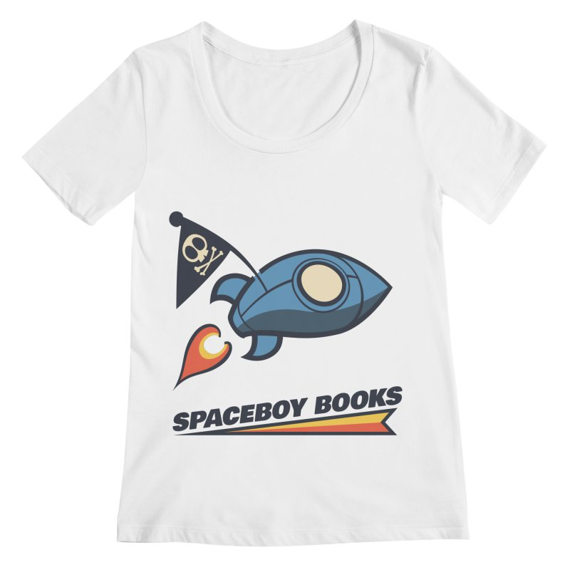 Spaceboy Books Brandmark Women's Regular Scoop Neck by Spaceboy Books LLC's Artist Shop