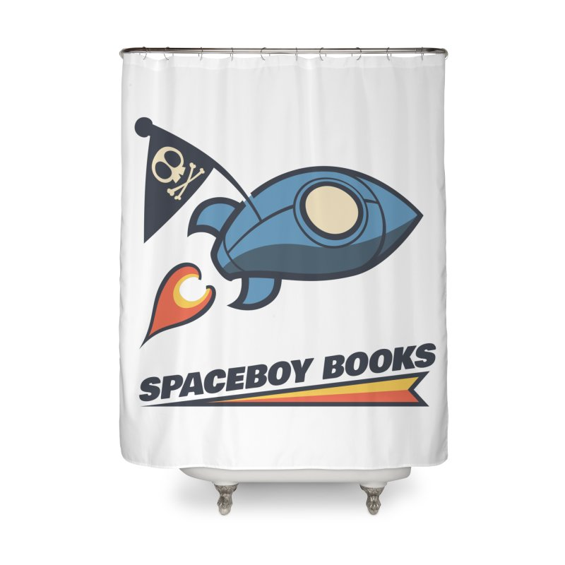 Spaceboy Books Brandmark Home Shower Curtain by Spaceboy Books LLC's Artist Shop