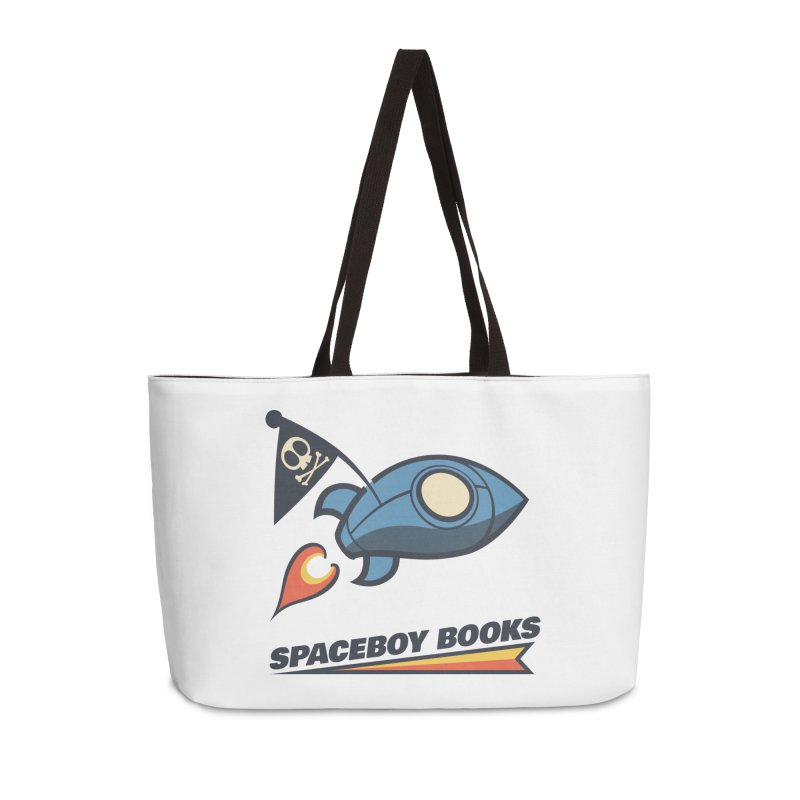Spaceboy Books Brandmark Accessories Weekender Bag Bag by Spaceboy Books LLC's Artist Shop