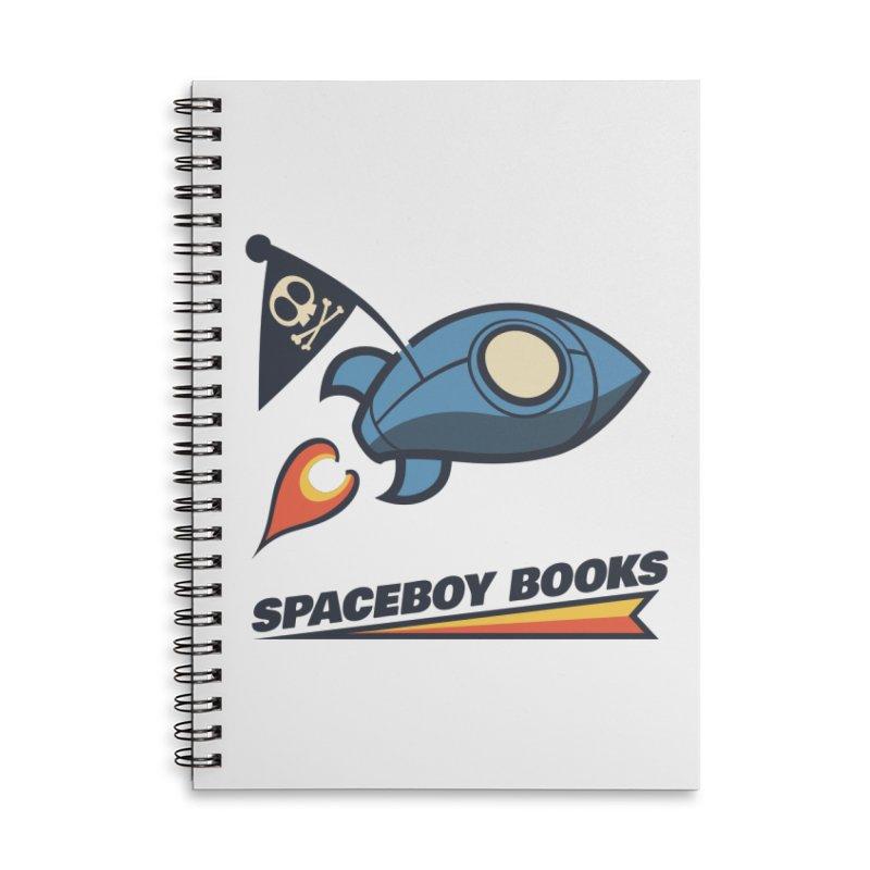 Spaceboy Books Brandmark Accessories Lined Spiral Notebook by Spaceboy Books LLC's Artist Shop