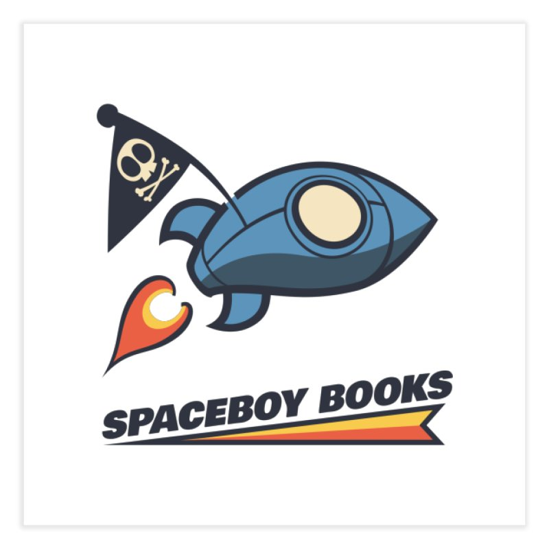 Spaceboy Books Brandmark Home Fine Art Print by Spaceboy Books LLC's Artist Shop